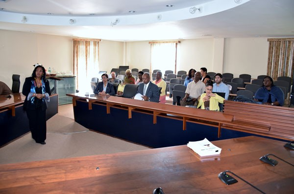 Ministry of Health briefs key members of the Council of Ministers about National Preparations for Ebola.