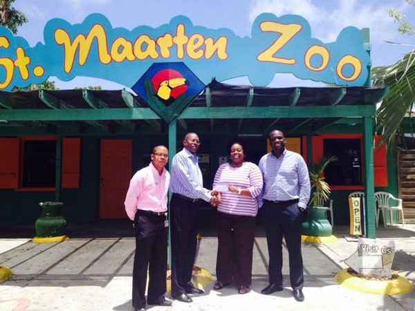 Port St. Maarten Donates Towards Save the Zoo Campaign.