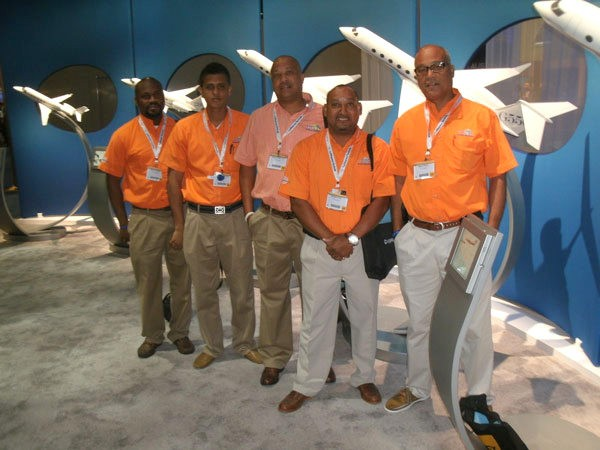 St. Maarten represented at the world's biggest executive aviation event.