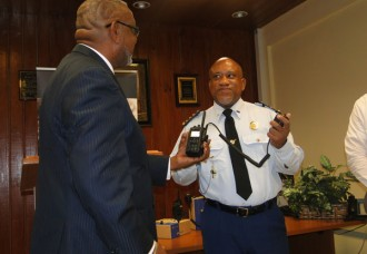 Police receives new hand held radios.