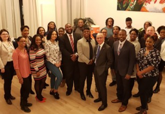 Sint Maarten Students in Holland  meet with Prime Minister Romeo-Marlin and Minister Ferrier.
