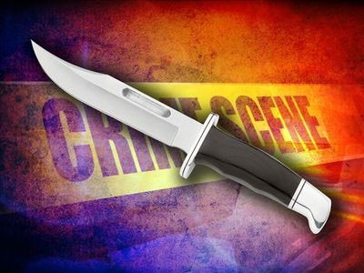 Off-duty police officer stabbed.