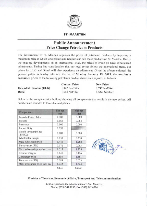 gasanddieselpricesdecrease16012015